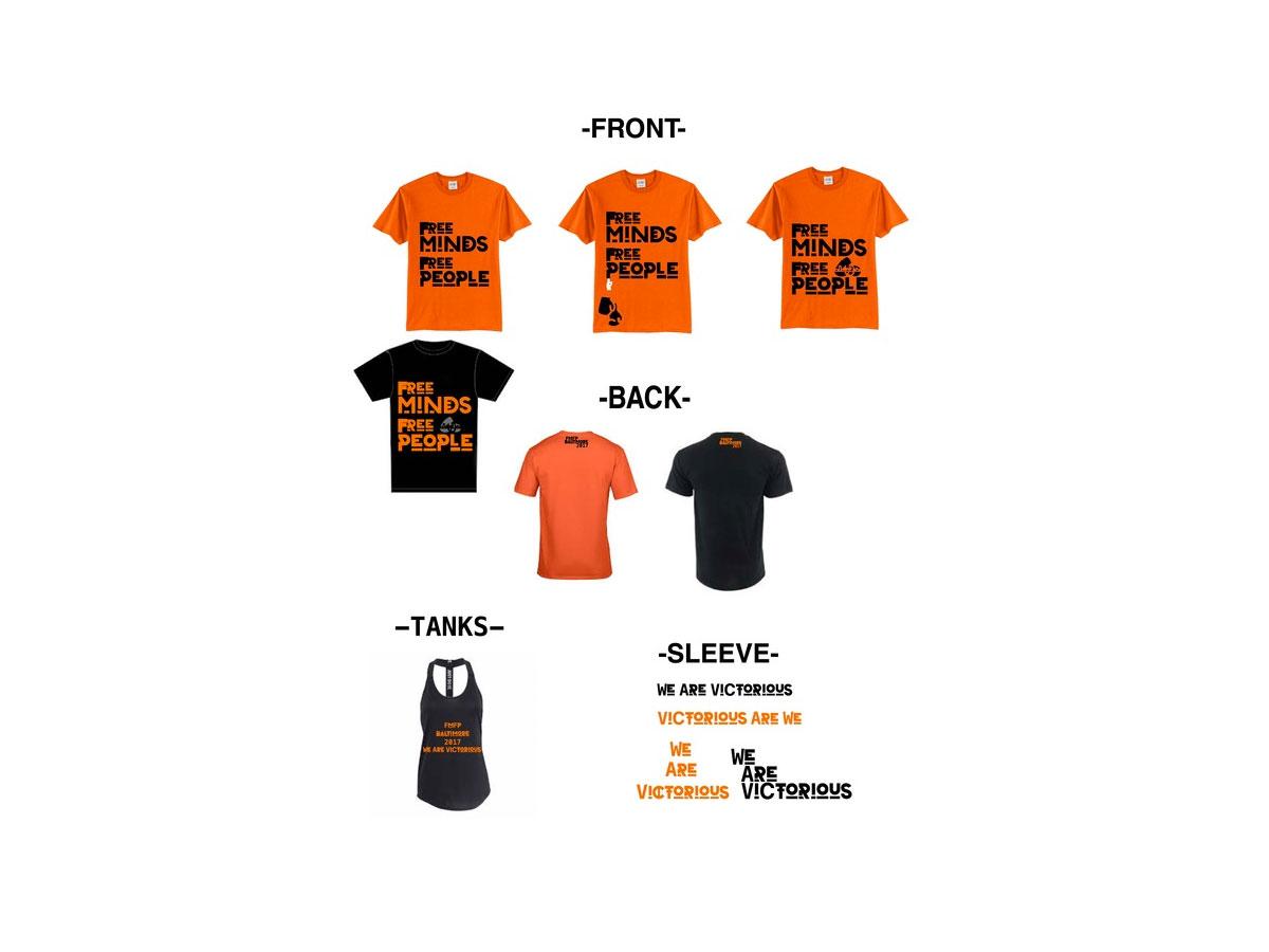Baltimore Design School student gallery - shirt design from Brehonna Brehon